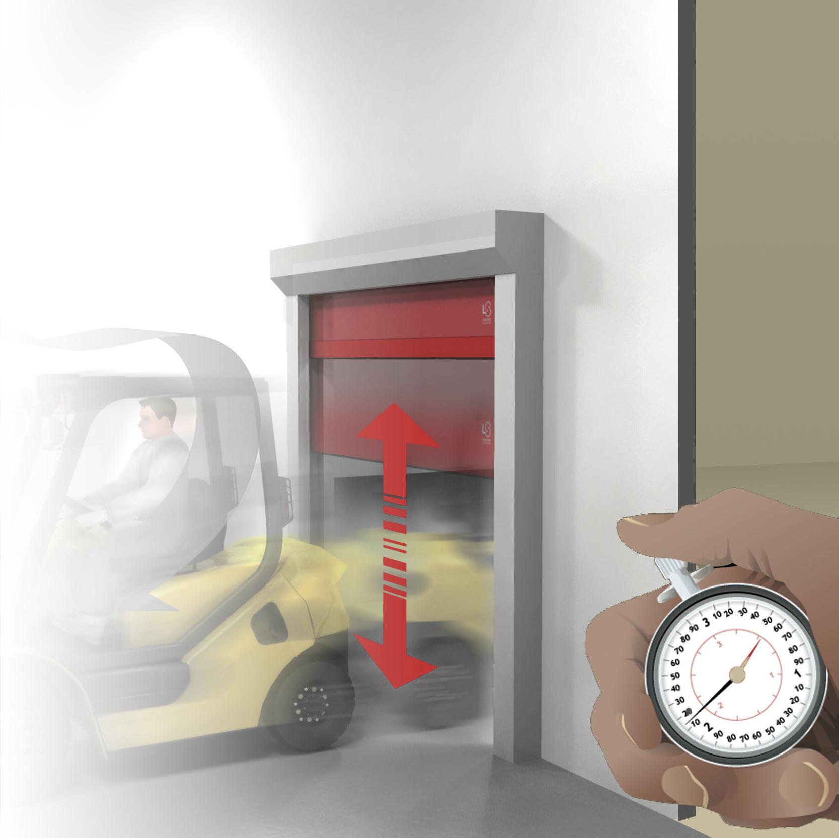 Porte rapide 640 / à enroulement / utilisation intérieure
