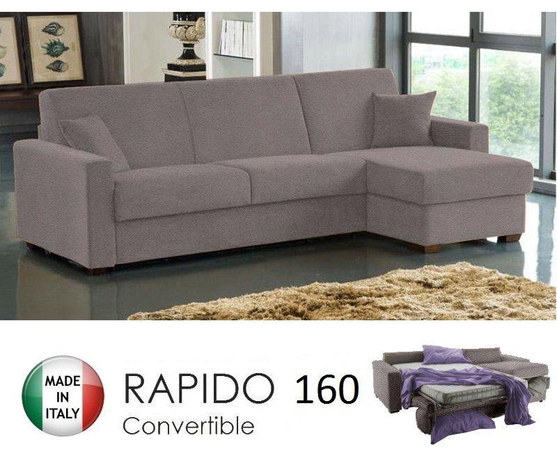 Canapé d angle ouverture rapido dreamer convertible lit 160 195 14 couchage  quotidien en microfibres taupe 592cae000bae