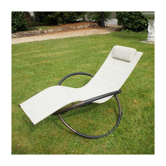 Chaise longue chalet jardin achat vente de chaise for Transat jardin gris