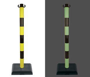 Poteau PVC Noir/Photoluminescent sur socle lesté 3kg - 2000734