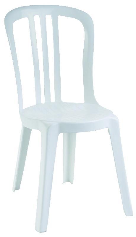 Chaise blanche miami en résine empilable tp13890