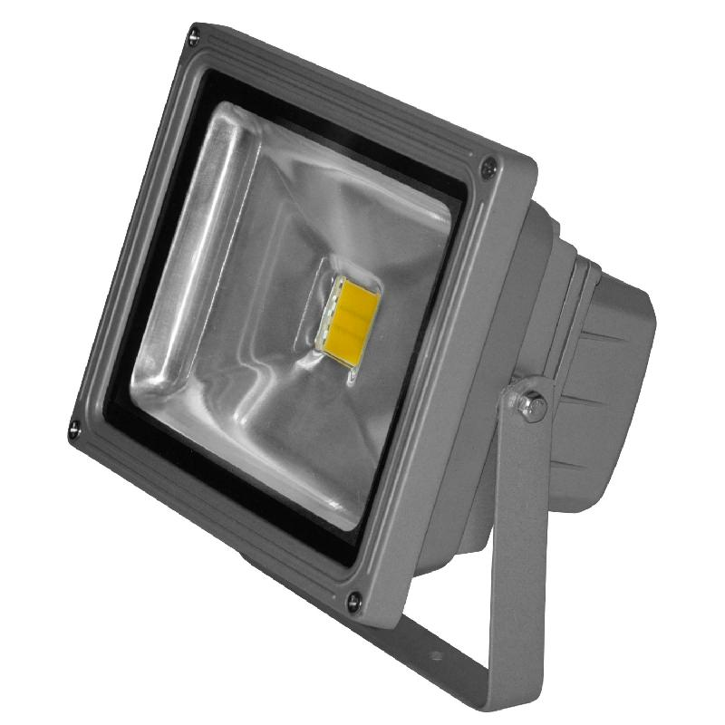 Cob projecteur d 39 ext rieur led blanc chaud l18cm for Par led exterieur