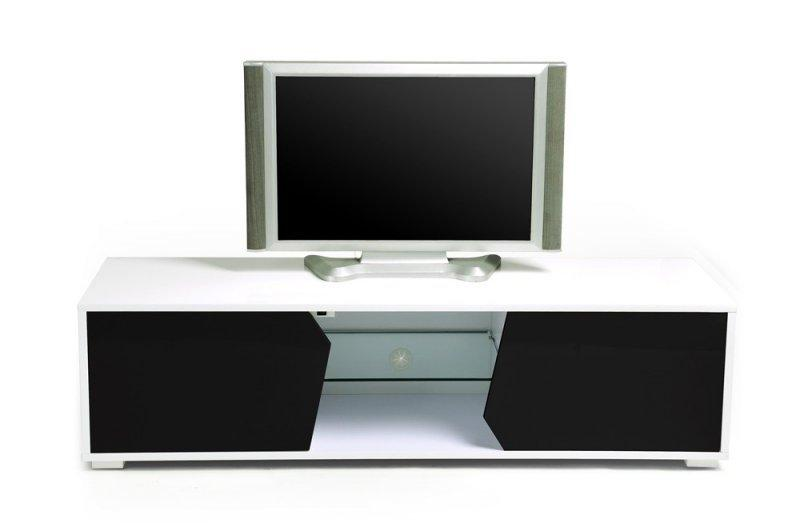 voyager meuble tv tele led verre laque blanc mat design. Black Bedroom Furniture Sets. Home Design Ideas