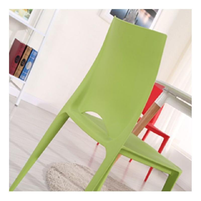 Chaises de jardin en plastique lot de 4 vert boutique for Chaise longue jardin plastique vert