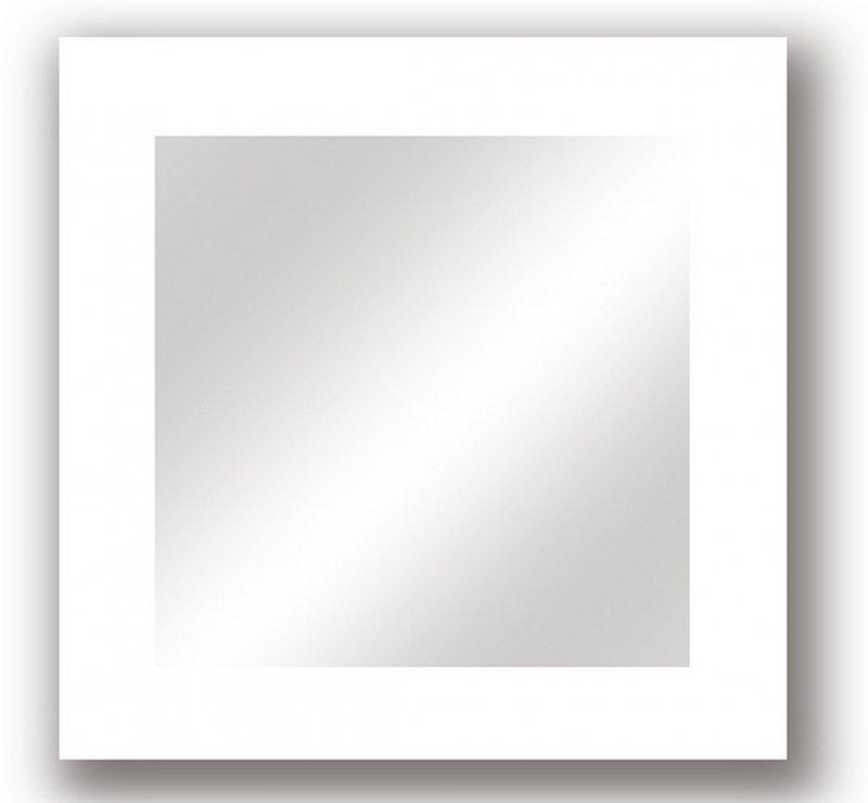 Miroir design carr laqu blanc drop 104 cm pictures to for Miroir laque blanc