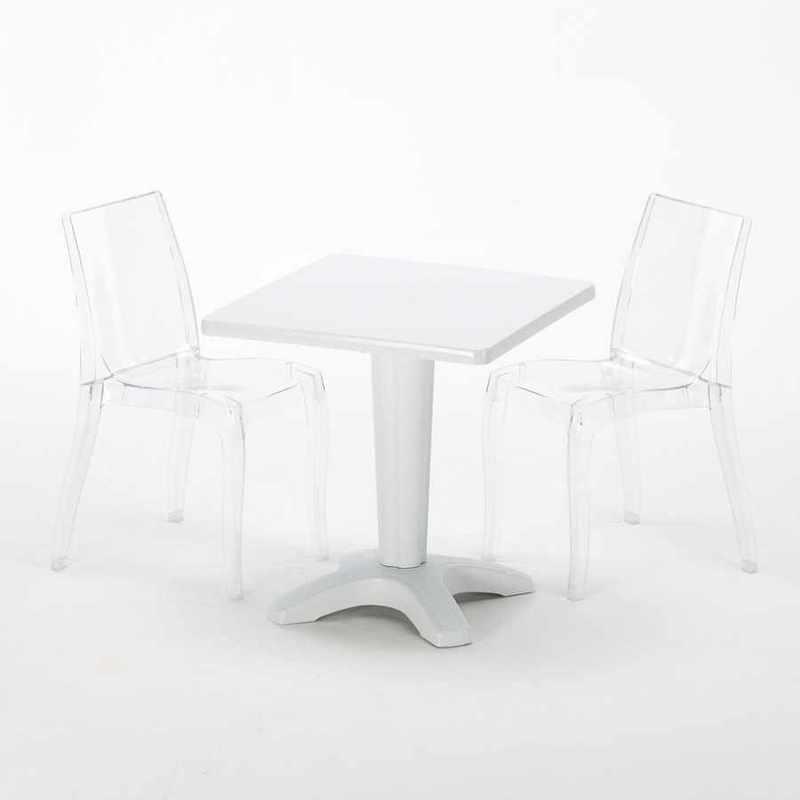 SALON DE JARDIN GRAND SOLEIL POSITANO EN POLY ROTIN CANAPÉ TABLE ...