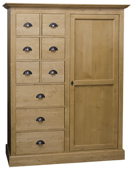 bonnetire with bonnetiere en pin massif. Black Bedroom Furniture Sets. Home Design Ideas