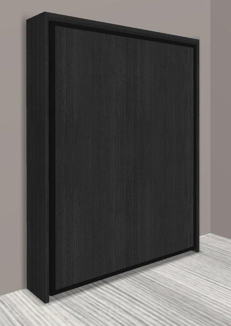 armoire lit escamotable cronos chene noir couchage 140 22 200 cm. Black Bedroom Furniture Sets. Home Design Ideas