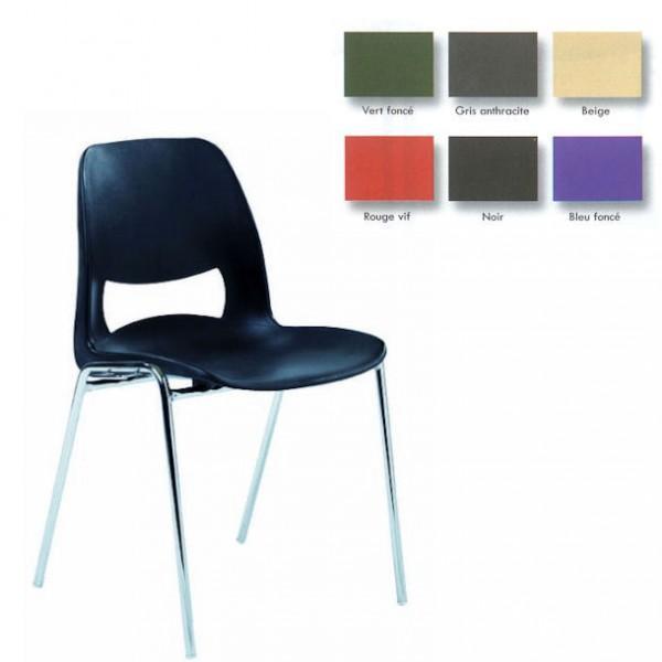 chaise coque design pieds chromes m2. Black Bedroom Furniture Sets. Home Design Ideas