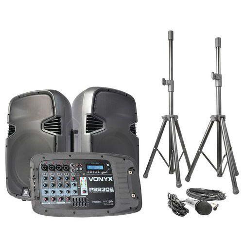 ENSEMBLE DE SONO PORTABLE 10 SD/USB/MP3/BT AVEC PIEDS - PSS302