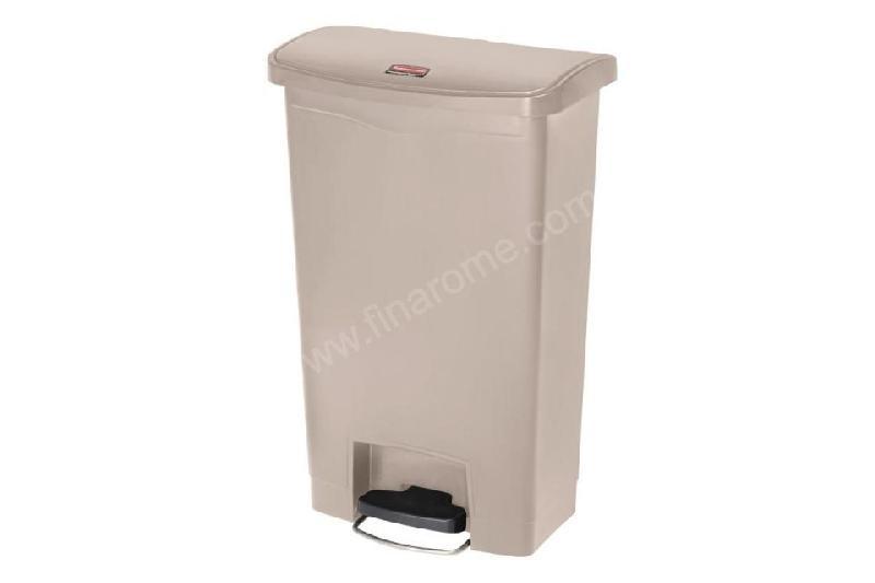 poubelle p dale frontale professionnelle beige 50 l rubbermaid comparer les prix de poubelle. Black Bedroom Furniture Sets. Home Design Ideas