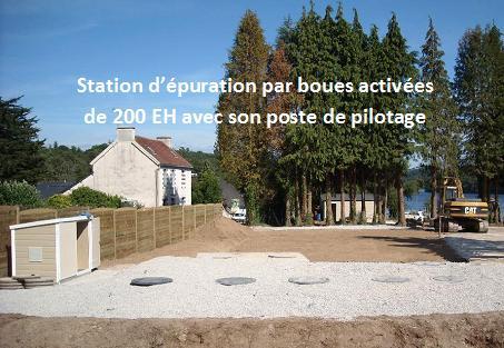 Station d'epuration biologique par boues activees