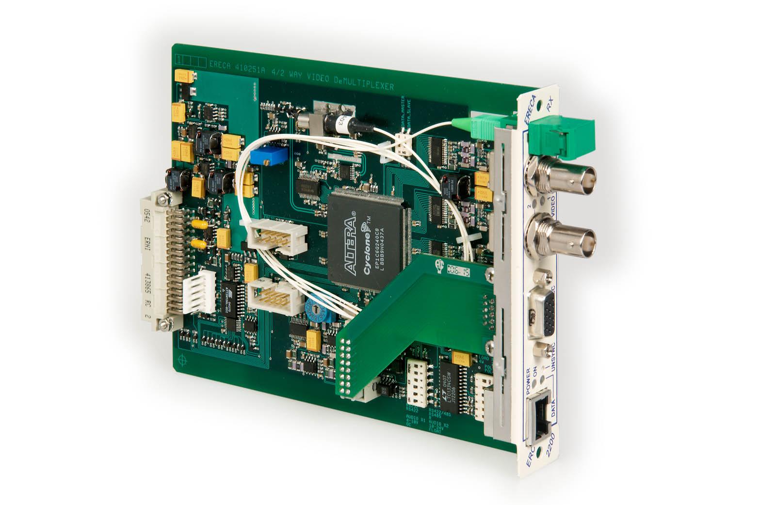 équipement pour transmission optique de signal vidéo / audio / données - erc 2200