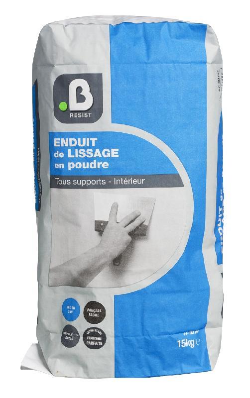 ENDUIT DE LISSAGE POUDRE 15 KG - B RESIST
