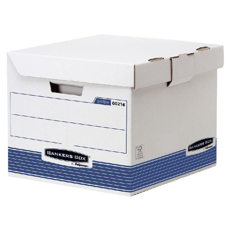 FELLOWES CAISSE ARCHIVES AUTOMATIQUE BANKERS BOX FSC - FORMAT CUBE (PRIX À L'UNITÉ)
