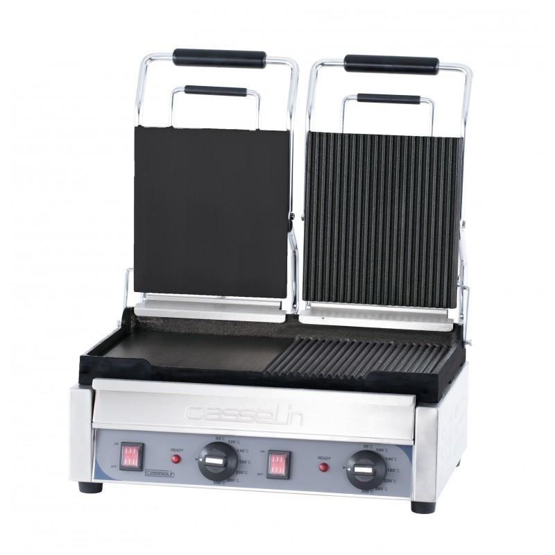 grill panini double premium mixte professionnel. Black Bedroom Furniture Sets. Home Design Ideas
