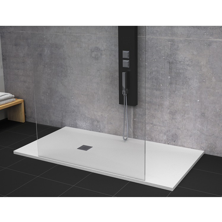 receveur de douche 70 x 120 cm extra plat strato surface ardois e rectangulaire blanc comparer. Black Bedroom Furniture Sets. Home Design Ideas