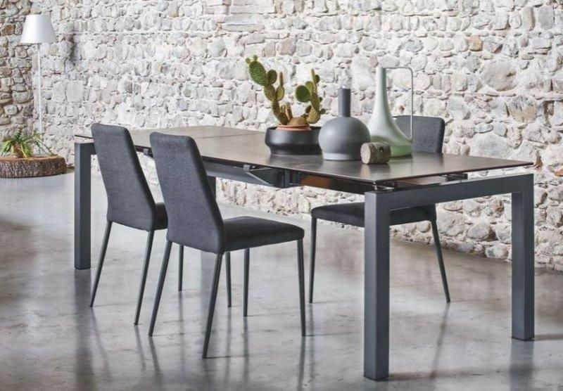 Calligaris table repas extensible airport 130x90 plateau for Table de repas design