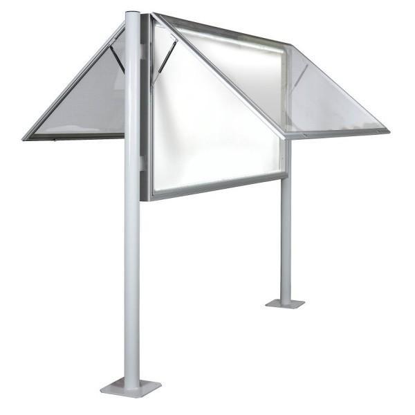 Vitrine d 39 exterieur profonde eclairee double vitre plexiglas for Plexiglas exterieur