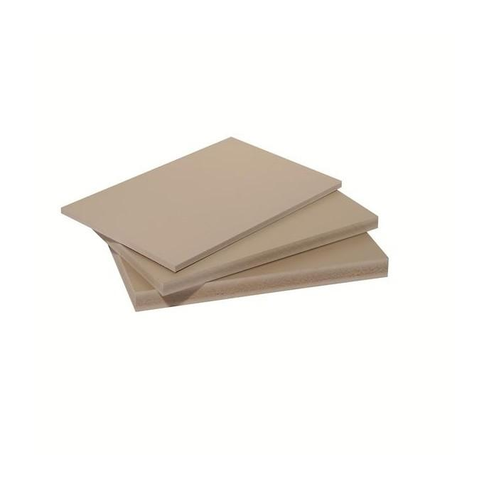 PANNEAU FIBRE COMPOSITE PLAT ET LISSE (2 COLORIS) - COLORIS - BEIGE (SABLE), EPAISSEUR - 10 MM, LARGEUR - 60 CM, LONGUEUR - 120 CM, SURFACE COUVERTE EN M² - 0.72 - MCCOVER