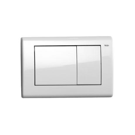 Plaque de d clenchement inox blanc brillant 39 planus for Plaque inox prix