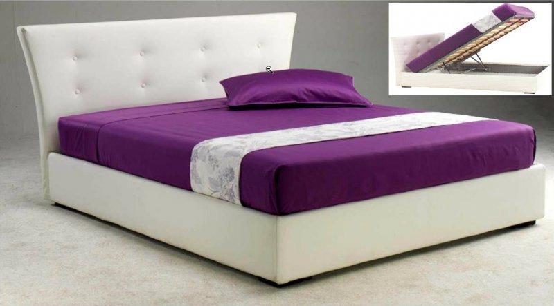 lit coffre metropolis haut de gamme avec tte de lit 160200 cm cuir blanc - Lit Haut