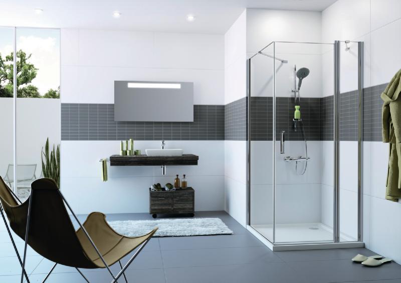 paroi de douche classics 2 porte battante avec segment fixe montage avec paroi laterale. Black Bedroom Furniture Sets. Home Design Ideas