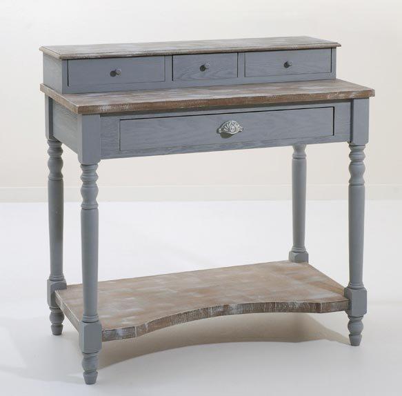 bureau 4 tiroirs cassie en bois style baroque. Black Bedroom Furniture Sets. Home Design Ideas