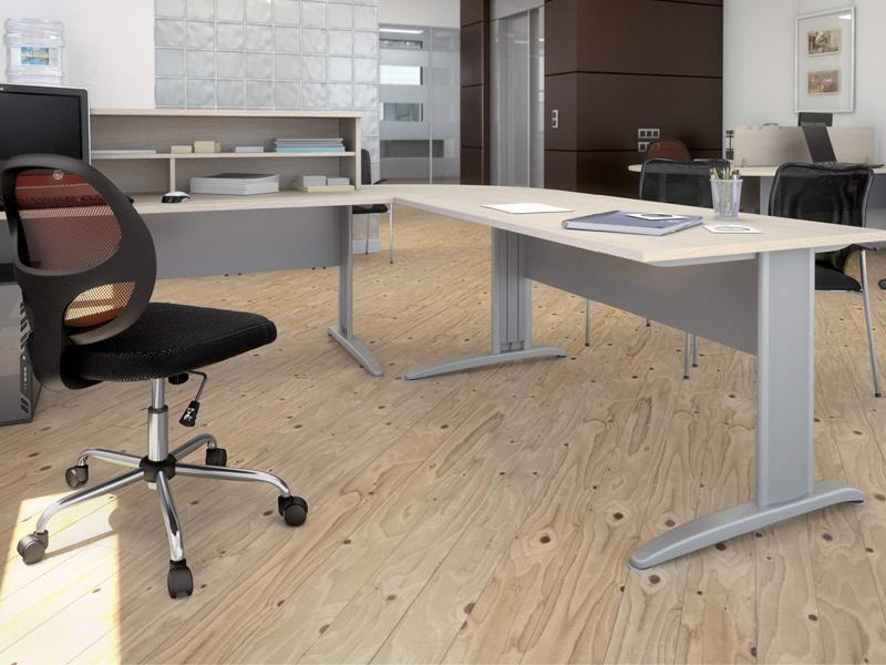 Bureau d 39 accueil corporate compact comparer les prix de for Meuble bureau compact