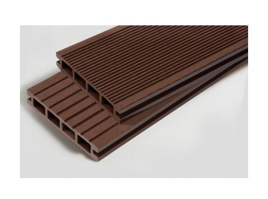 lame terrasse bois composite alvéolaire dual chocolat 2 lame bois et