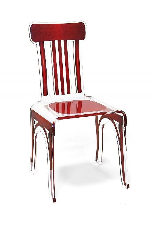 Bistro Chaise En Plexi Rouge Par Acrila