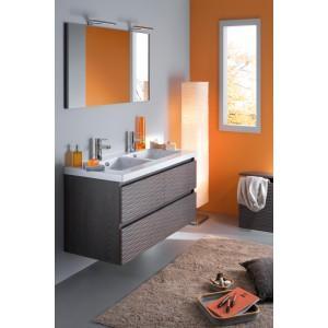 meuble 120 cm 2 vasques table blanche miroir bois massif lignum sanijura comparer les prix de. Black Bedroom Furniture Sets. Home Design Ideas