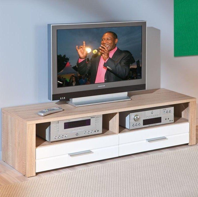 Meubles tv inside 75 achat vente de meubles tv inside 75 comparez les p - Meuble tv chene et blanc ...