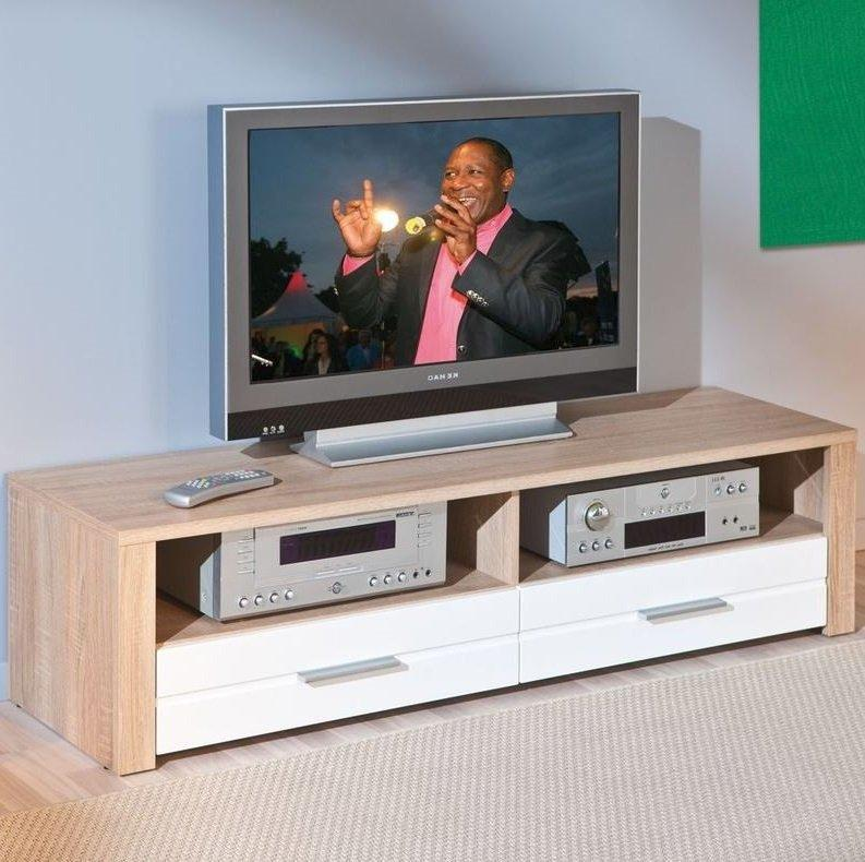 Meubles tv inside 75 achat vente de meubles tv inside for Meuble bois et blanc
