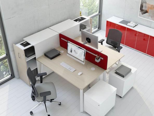Bureau bench 2 personnes ghoja comparer les prix de bureau for Mobilier bureau 2 personnes