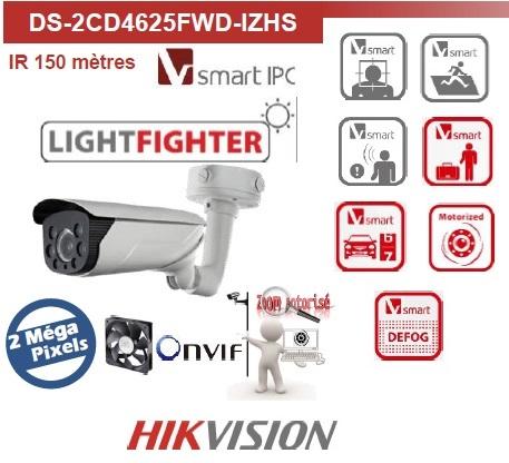 CAMÉRAS DE SURVEILLANCE LIGHTFIGHTER DS-2CD4625FWD-IZHS HIKVISION