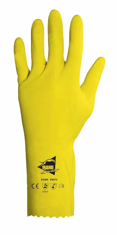 12 PAIRES DE GANTS PROTECTION CHIMIQUE LATEX RC604
