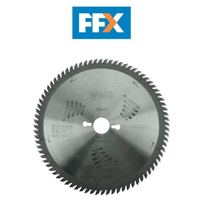 Dewalt dt4353-qz lame de scie circulaire stationnaire extreme workshop 250x30mm 80 dents lame scie stationnaire