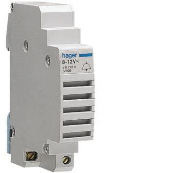 HAGER - SONNERIE MODULAIRE 8-12V 1 MODULE - SU212