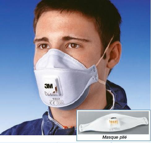 masque pliable avec soupape ffp3 3m masque anti poussi re pliable avec soupape ffp3 3m lot de. Black Bedroom Furniture Sets. Home Design Ideas
