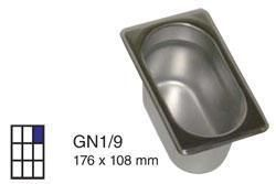 Recipient inox plein gn1 9 h 100mm for Recipient inox cuisine