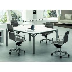 Table de reunion x8 plateau laque – officity. dc95e234ad34