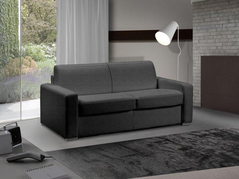 canape lit 2 3 places master convertible ouverture rapido 120 cm tweed cross gris graphite. Black Bedroom Furniture Sets. Home Design Ideas