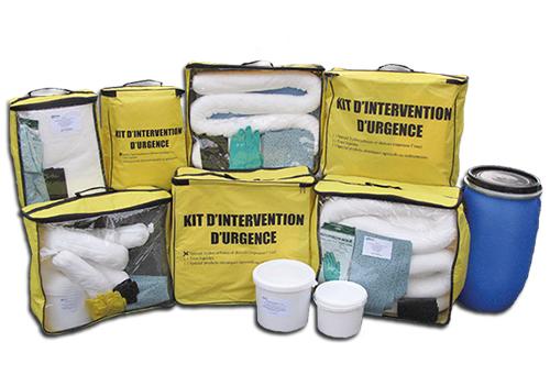 Kit d'intervention d'urgence antipollution