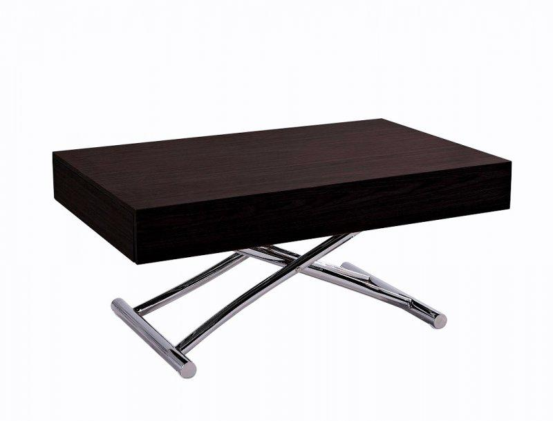 Table basse relevable cube wenge extensible 12 couverts for Table basse relevable extensible but