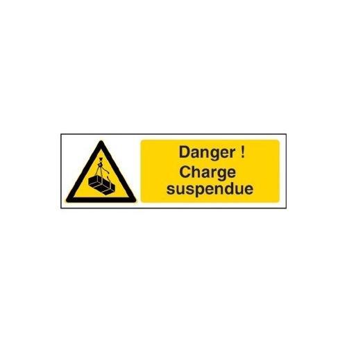 Charge suspendue 450 x 150 mm  panneau pvc 1,5mm - panneaux dangers