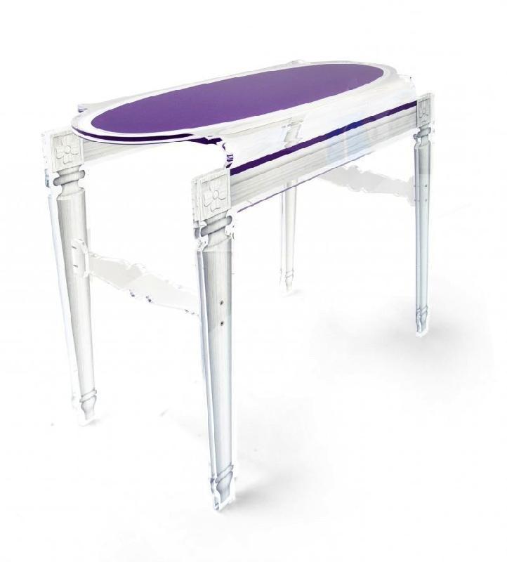 Console sixteen violet plexi acrila design - Console en plexiglas ...