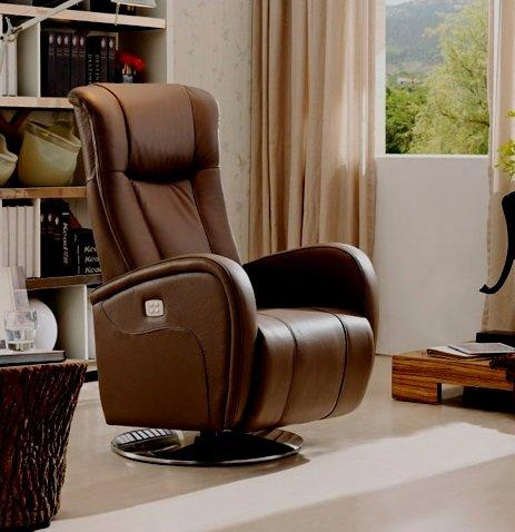 desire fauteuil relax electrique sans fil cuir vachette marron. Black Bedroom Furniture Sets. Home Design Ideas