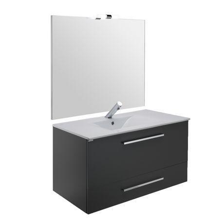 Meuble de salle de bain suspendu 100cm denia comparer les - Meuble suspendu salle de bain ...