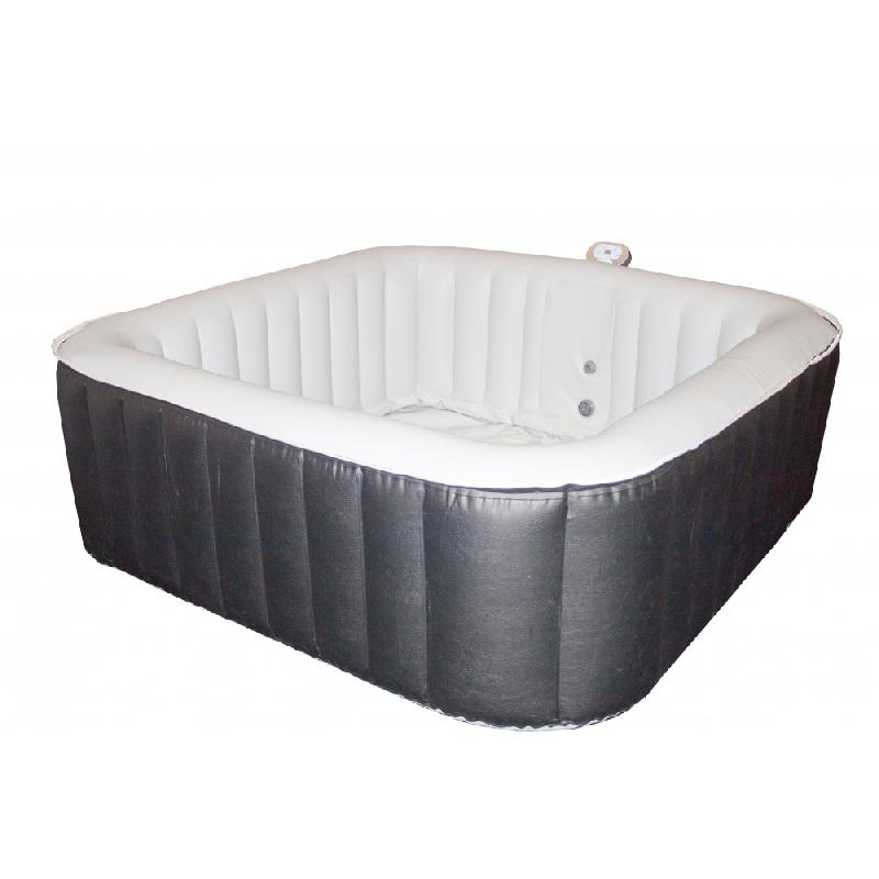 Spa jacuzzi gonflable carre 185x185 cm 8 places - Jacuzzi gonflable carre ...